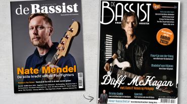 Nieuw cover ontwerp voor de restyling van de Bassist